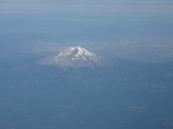 Mt. Shasta rises above California's central valley