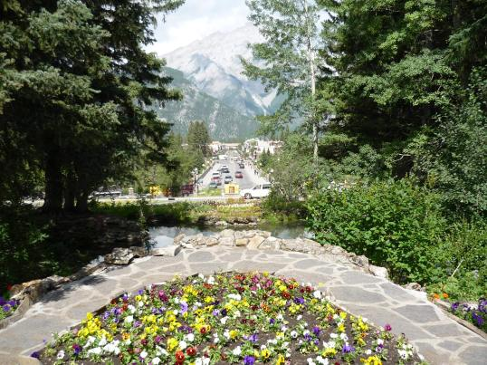 View of Banff from the Cascade Gardens