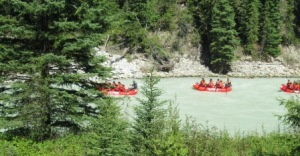 Rafters on the Fraser River