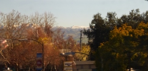 Snow above San Jose