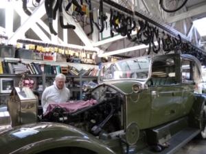Classic car restoration palace