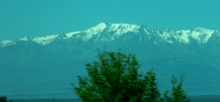 Sierra Gredos range, from the bus