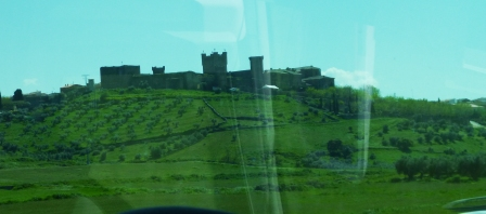 Castle in Spain - through the bus window