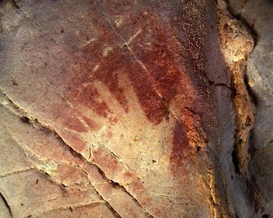 Trace of Paleo Graffitist - el Castillo