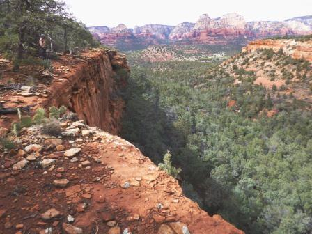 Sedona view from the trail