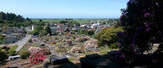 View from the resting place on the Hill