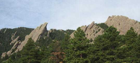 The Flat Irons above Boulder